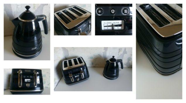 De'Longhi Avvolta Black Kettle & Toaster