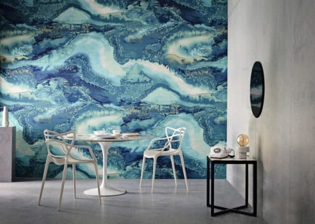 Anthology Definition wallcovering Obsidian - Watercolour wallpaper