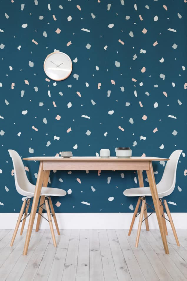 Dark Terrazzo Wall Murals from Murals Wallpaper