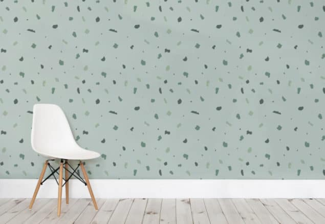 Green Terrazzo Wall Murals from Murals Wallpaper
