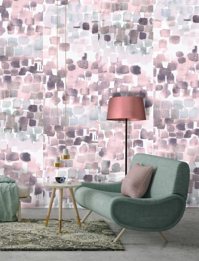 Louise Body Watercolour wallpaper plum