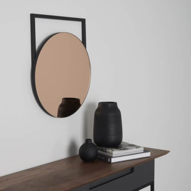 [MannMade London] Battersea collection, Edna mirror, dark, side, £155