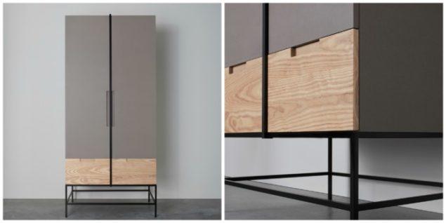 [MannMade London] Battersea collection, Rosenau wardrobe light grey, £1650