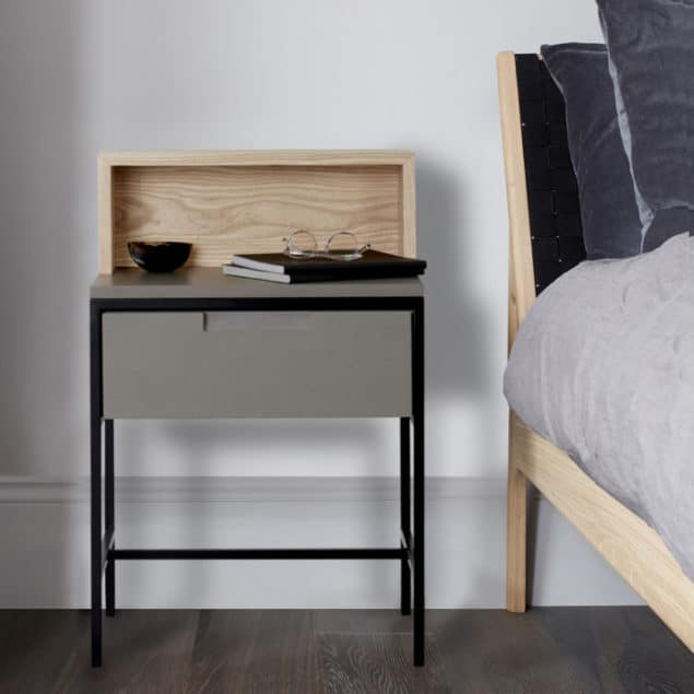 [MannMade London] Battersea collection, lifestyle, Howie bedside table, light, £685