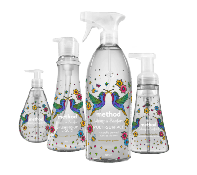 Method cleaning products in collaboration with Johanna Basford