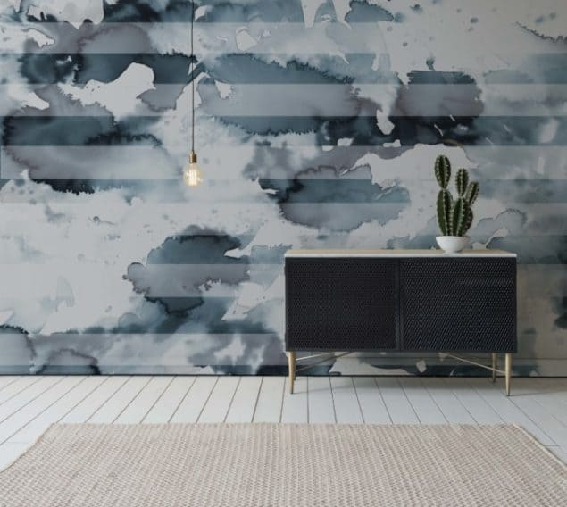 Newmore Watercolour wallpaper in Stripe