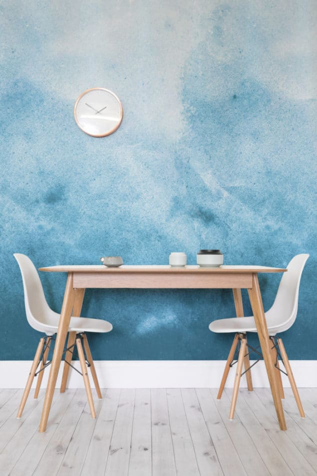 Watercolour wallpaper Blue Grunge Wallpaper from Murals Wallpaper