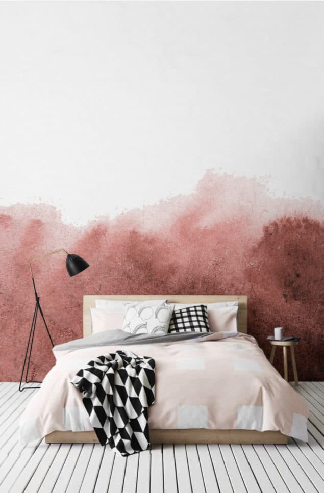 Watercolour wallpaper Red Grunge Fading Paint Wallpaper from Murals Wallpaper