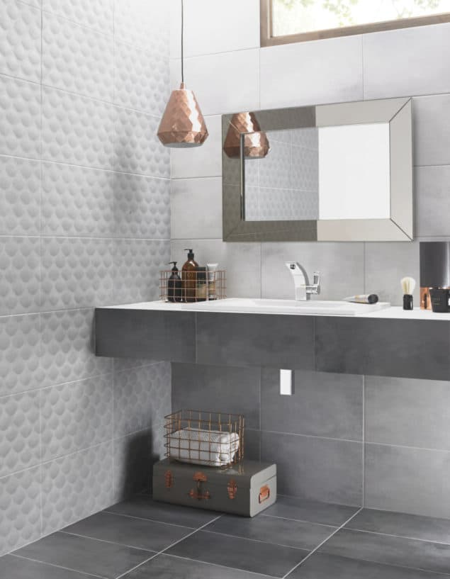 British Ceramic Tile Ted Baker Tactile in Grey