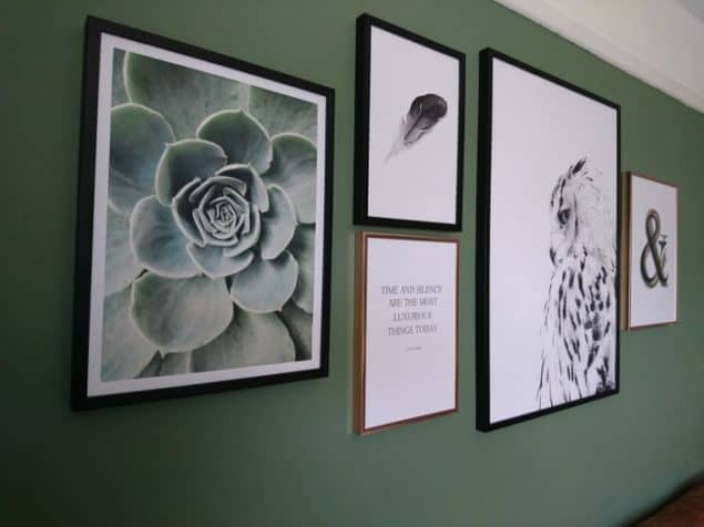 Livingroom makeover desenio prints gallery wall