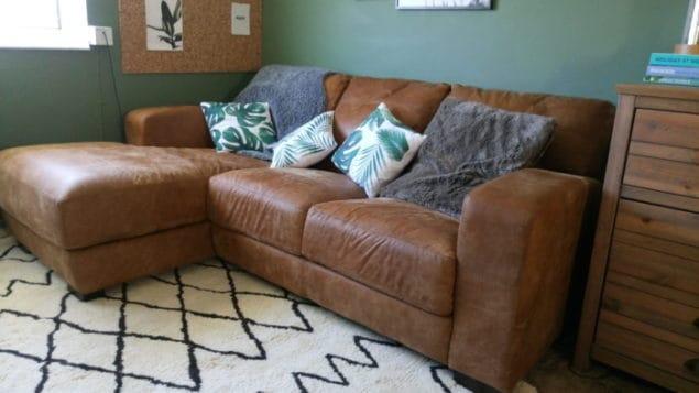 Livingroom makeover dfs caeser sofa modern rugs rug 2