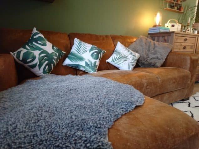 Livingroom makeover dfs caeser sofa modern rugs rug 4