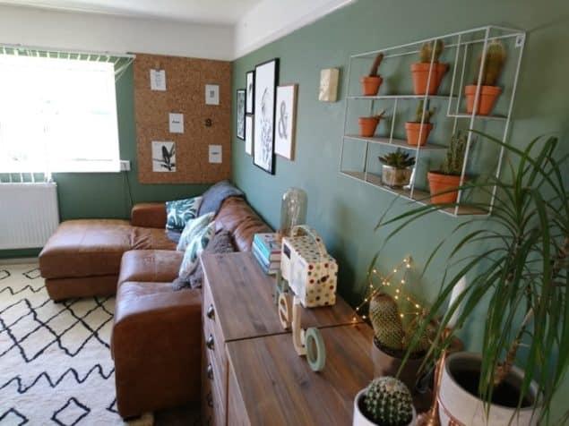 Livingroom makover dfs caeser sofa desenio prints modern rugs rug 2