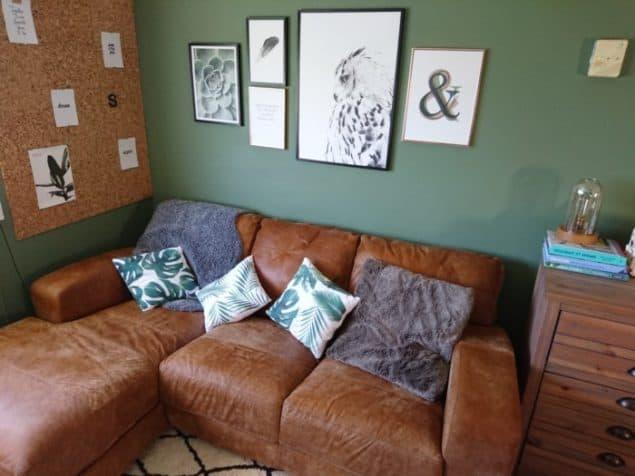Livingroom makover dfs caeser sofa desenio prints modern rugs rug 3