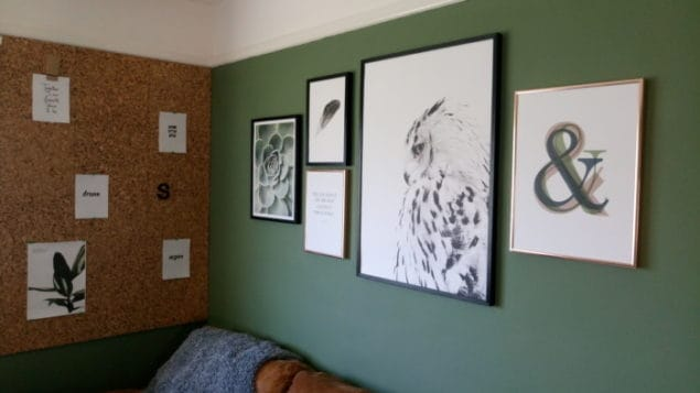 livingroom makeover desenio prints gallery wall 2