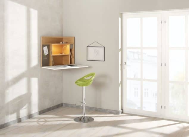 Ecce corner desk for small spaces designed by Noook