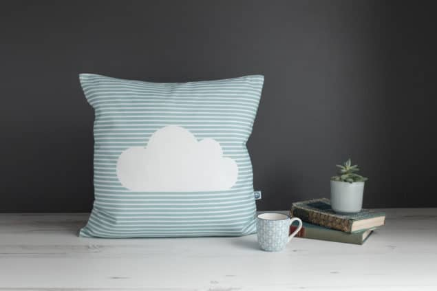 Helen Baker Home Cornish Cloud cushion design in cove