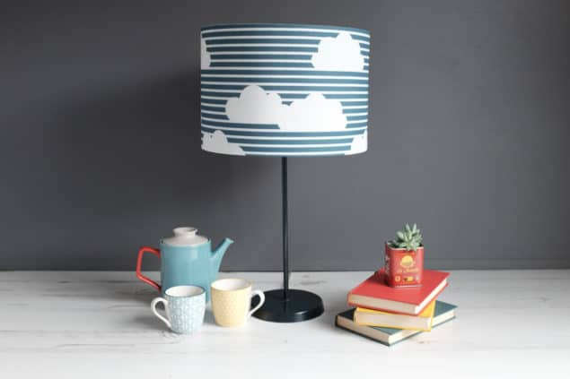 Helen Baker Home Cornish Clouds lampshade