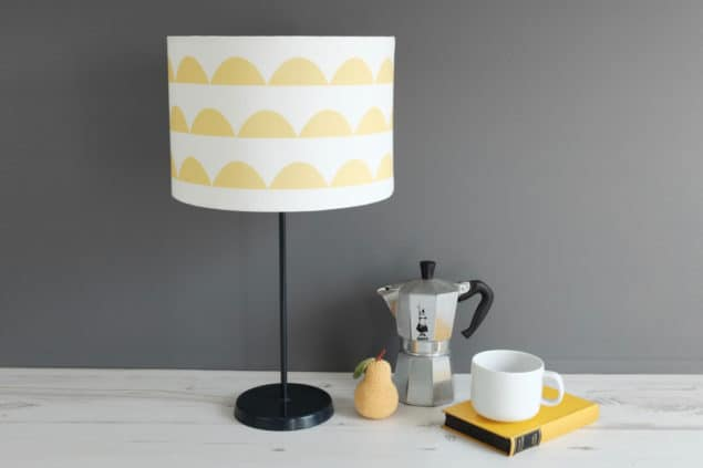 Helen Baker Home Surfboard Scallop lamp in saffron