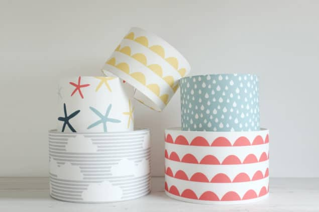 Helen Baker Home lampshade stack