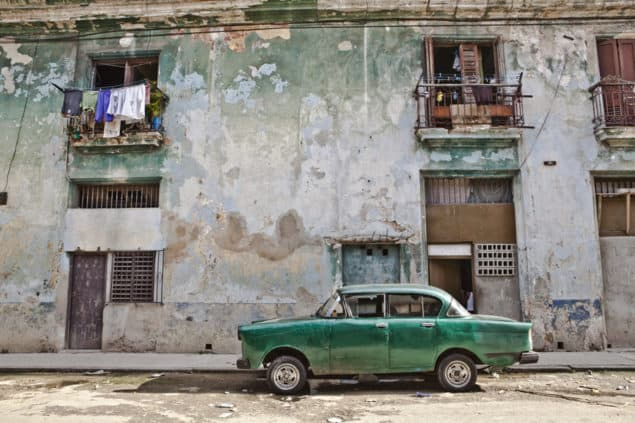 Louisa Seton - Cuba Green Car art print from Lumitrix