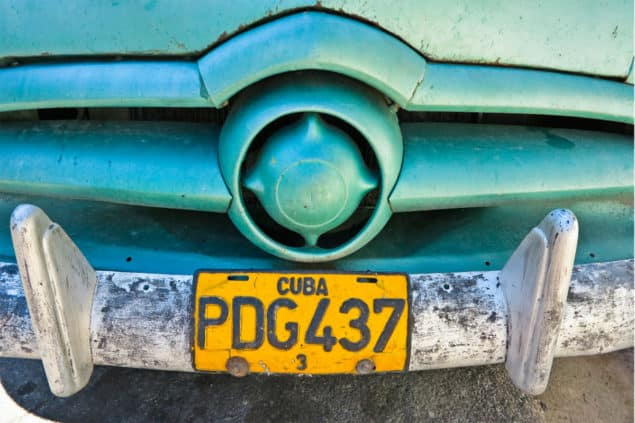 Louisa Seton - Cuba Licenceplate Fine Art print from Lumitrix