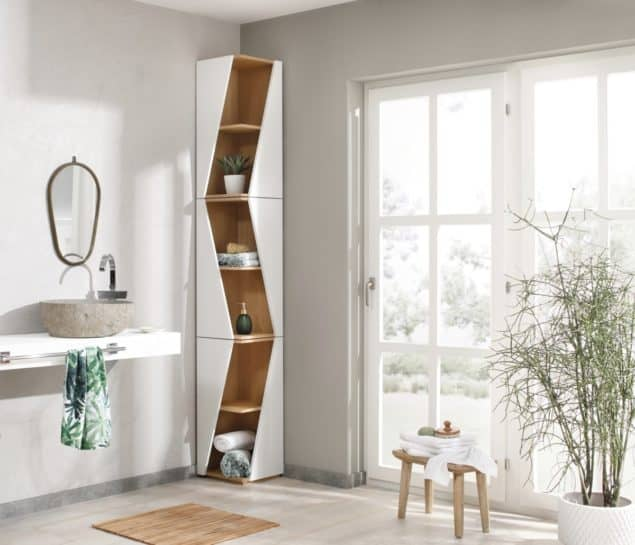 bEcky corner bathroom shelves for small spaces designed by Noook