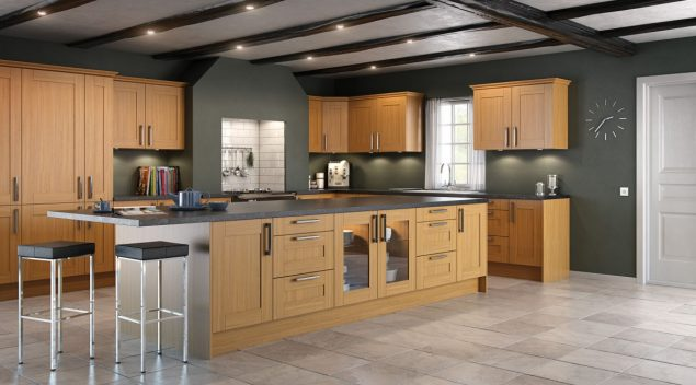 Laminate kitchen work surface