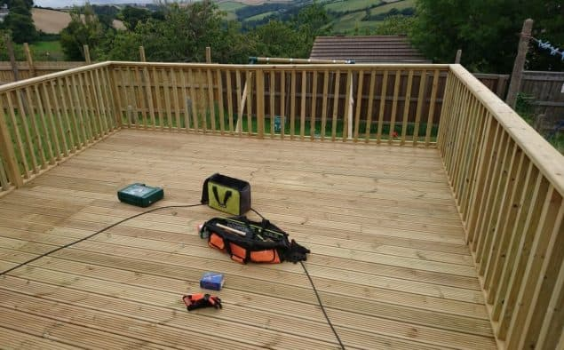 Garden Makeover decking is nearly complete