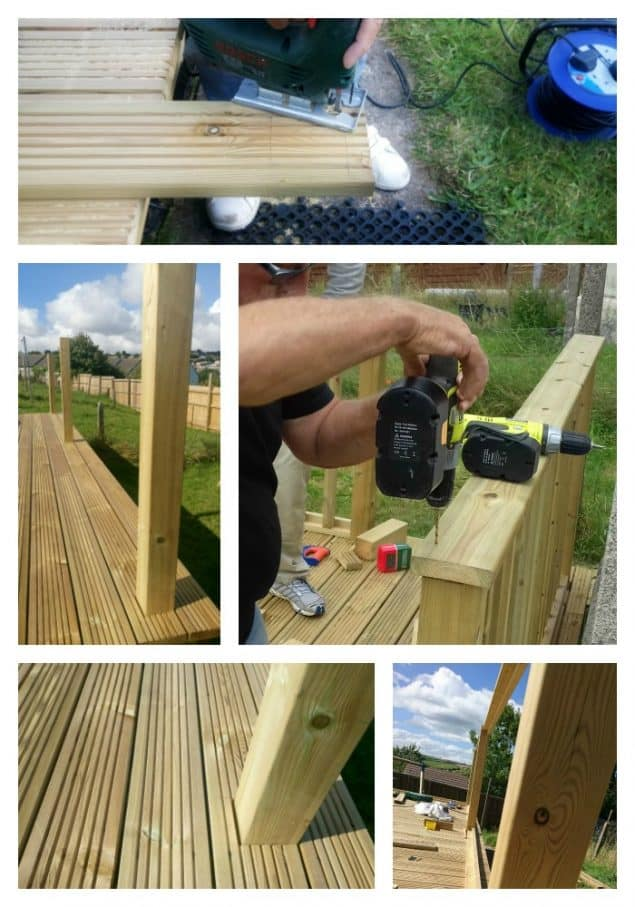 Garden makeover featuring decking balustrade from Richard Burbidge
