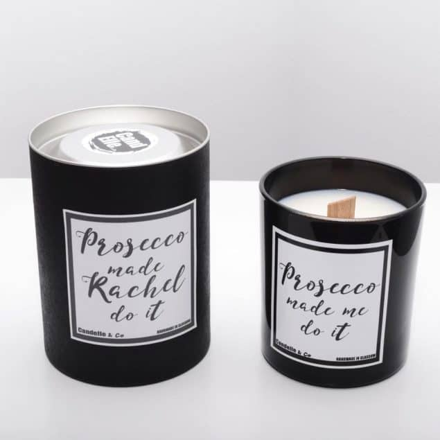 Monochrome Soy Wax Luxury Candles with wooden wick from Candelle and Co