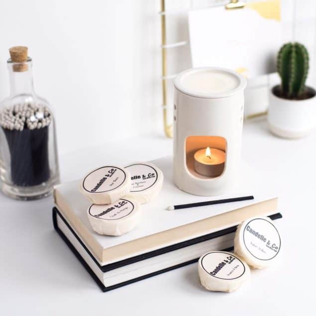 Soy Wax Melts and burner from Candelle and Co