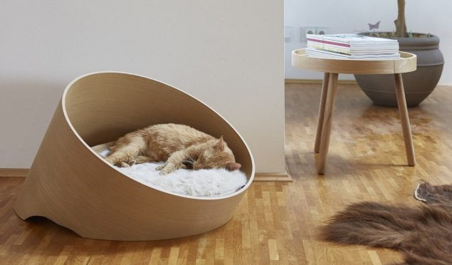 Covo cat bed from Tuft + Paw - stylish cat beds for design conscious cat owners