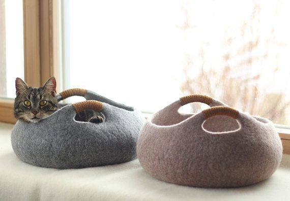 Gatto Basket Cat Bed by Tuft + Paw - stylish cat beds for design conscious pet owners