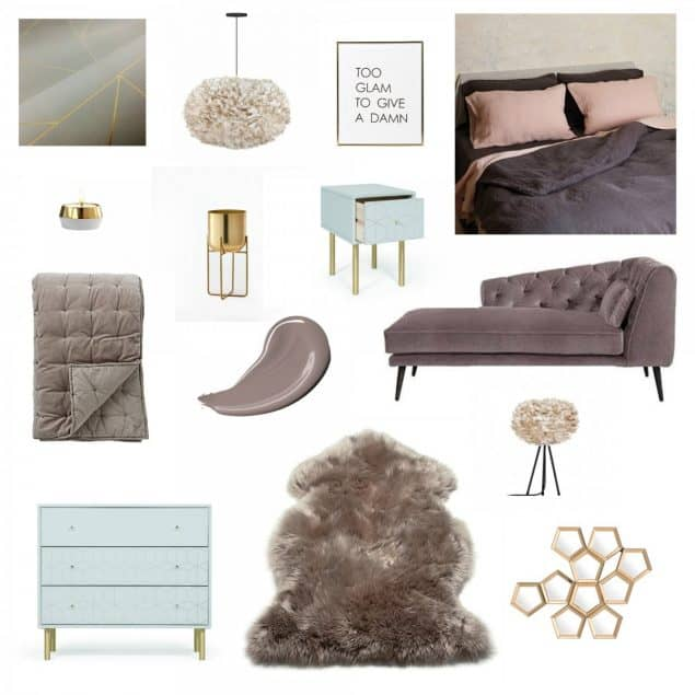 Juliette's Interiors Luxury Bedroom design scheme inspired by Dulux Colour of the Year 2018 Heartwood