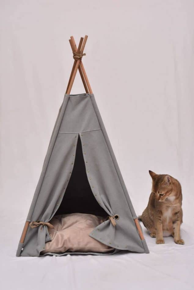Smoke & Tobacco Cat Tree by Tuft + Paw - stylish cat beds for design conscious pet owners