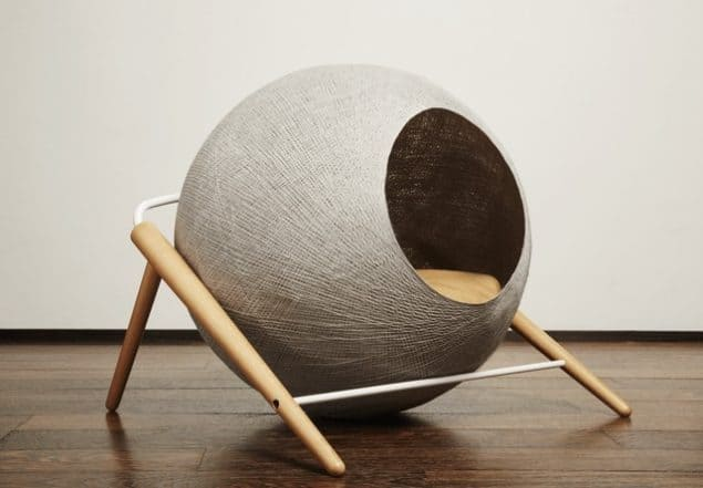 Sphere cat bed by Tuft + Paw - stylish cat beds for design conscious pet owners