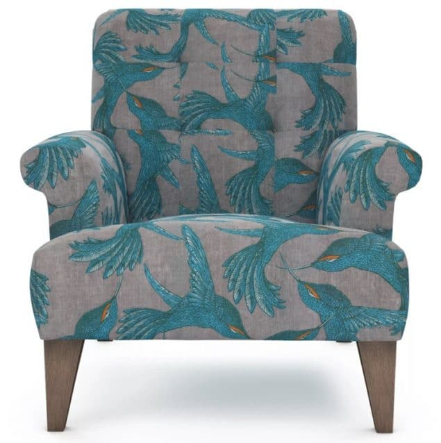 The Lounge Co Paradise Bird Armchair in grey