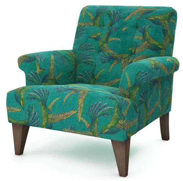 The Lounge Co Paradise Bird Armchair in teal 2