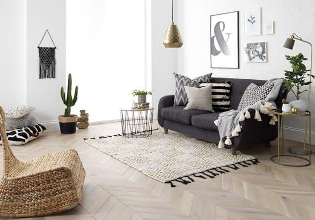 Goodrich Haze eg gulv fra Woodpecker Flooring.  Trægulve kan hjælpe med at skabe merværdi for dit hjem