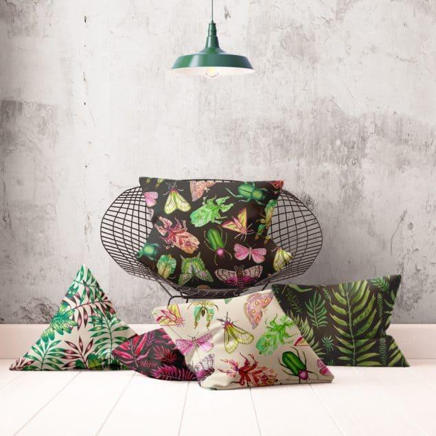 Textile Designer Jenny Evans cushion selection