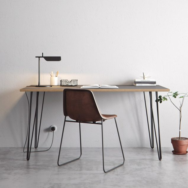 The Hairpin Leg Co Grey desk 3