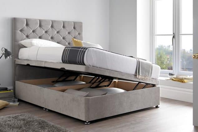 Beds on Legs Monte Carlo Ottoman Bed with side opening storage