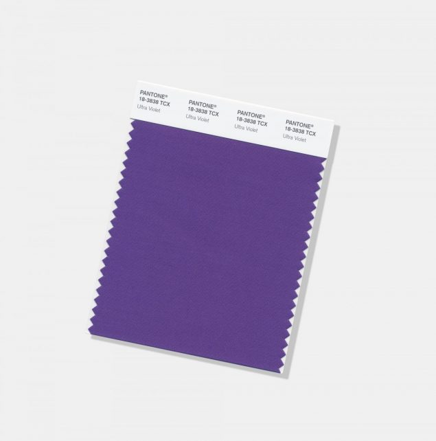 Pantone Colour of the Year 2018 Ultra Violet cotton swatch