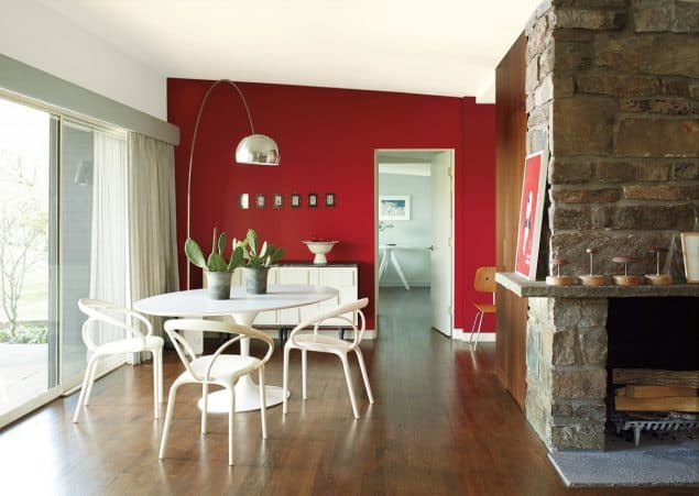 2018 Colour Trends - Benjamin Moore Caliente - Red Dining Room