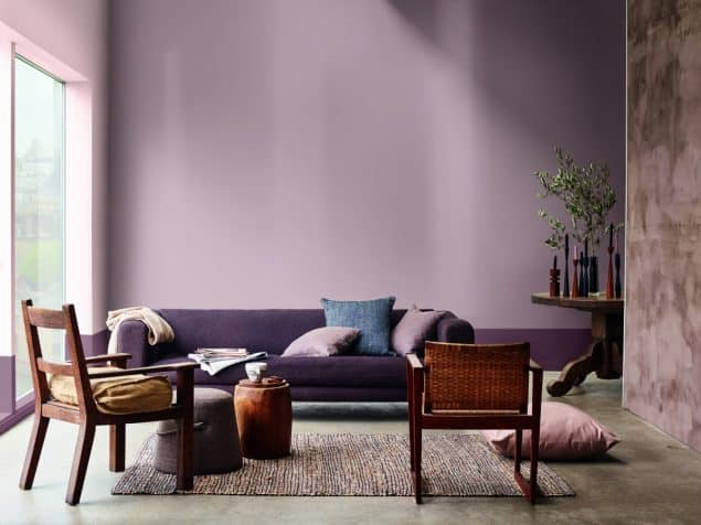 2018 Colour Trends - Dulux Heart Wood Living Room