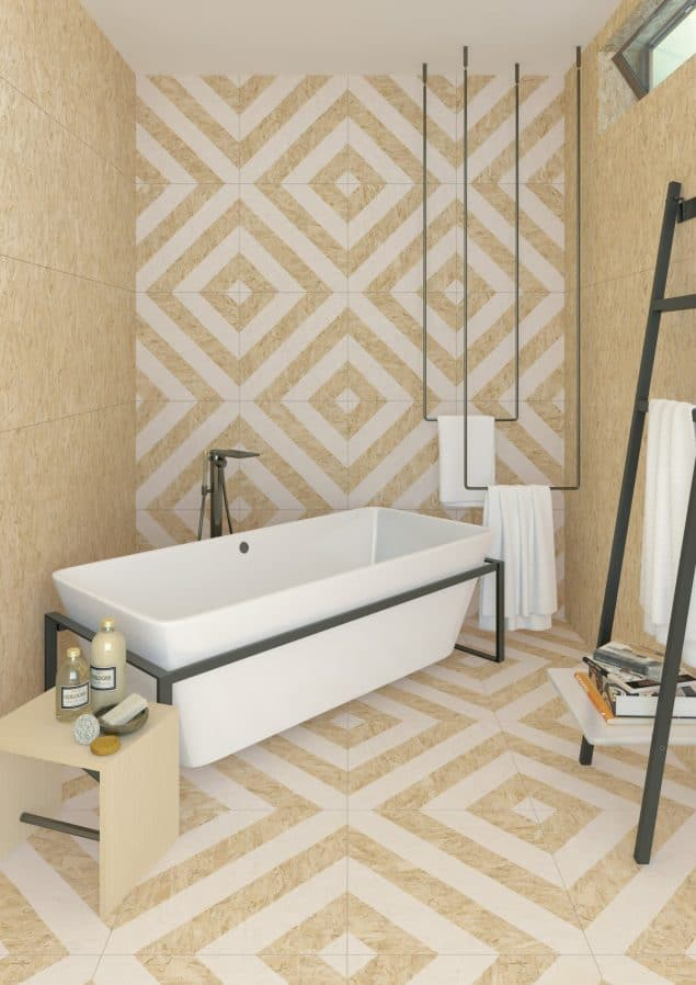 Chipboard Effect Tiles from The Baked Tile Co