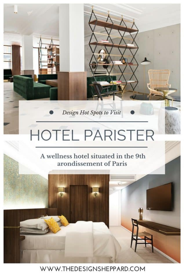 Situated in rue Saulnier in the 9th arondissement of Paris is Hôtel Parister, a five star wellness hotel designed by the architecture firm Beckman N'Thépé that boasts 45 rooms and suites.