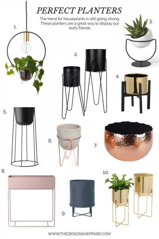 A selection Perfect Planters for plant lovers who value good design