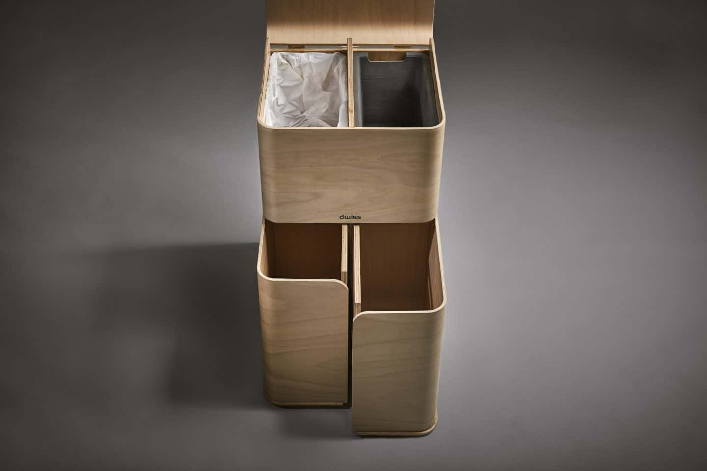 dwiss sustainable plywood recycling bin